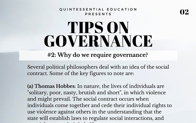 A levels GP General Paper tips QE Quintessential Education Tuition Singapore Governance Government 2